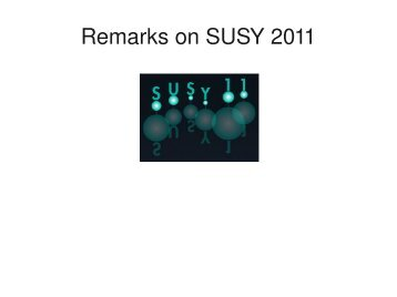 Remarks on SUSY 2011