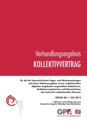 KOLLEKTIVVERTRAG - derStandard.at