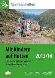Mit Kindern auf Hütten 2013/14 - Der Standard