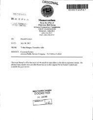 Trisha A. Morgan - eDOCKET - Arizona Corporation Commission