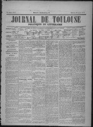 23 Janvier 1876 - Bibliothèque de Toulouse