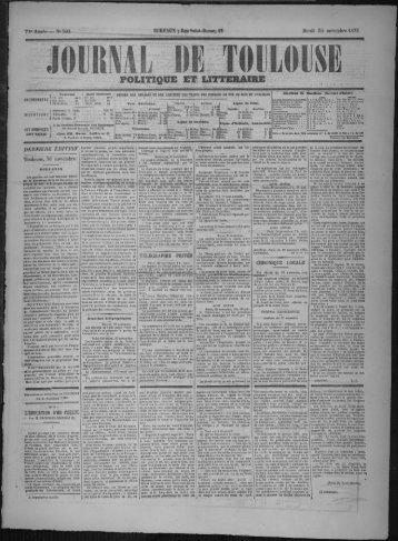 30 novembre 1875 - Bibliothèque de Toulouse