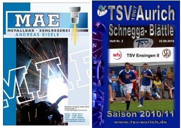 Zum Schluss TSV - TSV Aurich eV