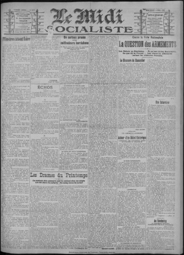 Les Drames du Printemps - Bibliothèque de Toulouse
