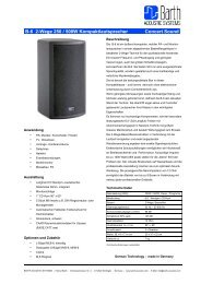 B-6 2-Wege 250 / 500W Kompaktlautsprecher Concert Sound