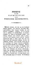 PROEVE FRIESCHE DICHTKUNST. - Tresoar