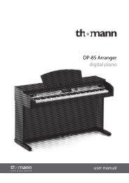 DP-85 Arranger digital piano - Musikhaus Thomann