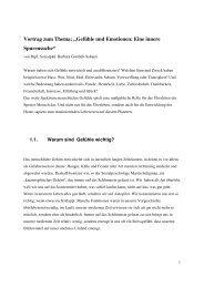 """Vortrag zum Thema: """"Gefühle und Emotionen ... - umweltberatung"""