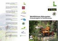 Wohlfühloase Naturgarten - umweltberatung