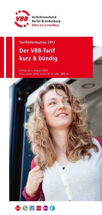 Der VBB-Tarif kurz & bündig