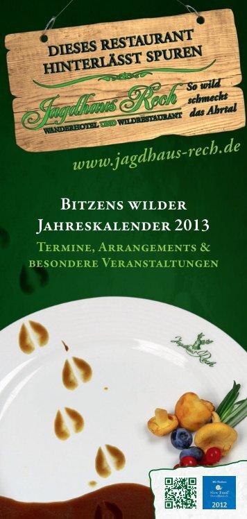 Veranstaltungen - Hotel und Restaurant Jagdhaus Rech