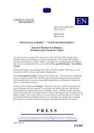 POST-WALL EUROPE - Rat der Europäischen Union - Europa