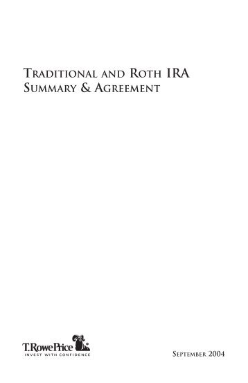 Traditional Ira Plan Document And Adoption Agreement