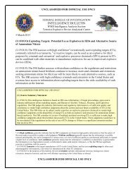 INTELLIGENCE BULLETIN - Public Intelligence