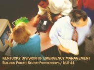 KENTUCKY DIVISION OF EMERGENCY MANAGEMENT
