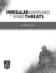 Irregular Adversaries and Hybrid Threats