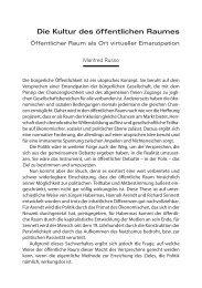 Die Kultur des öffentlichen Raumes. Öffentlicher Raum ... - TU Wien