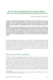 Prix et coûts de production de six grandes cultures : blé, maïs ... - Insee