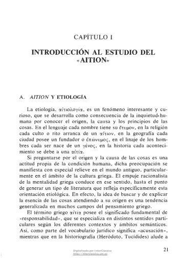 INTRODUCCIÓN AL ESTUDIO DEL AITION* - InterClassica