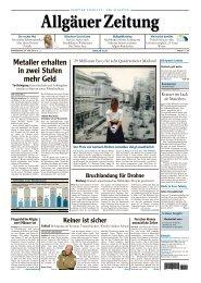 Allgäuer Zeitung, Kempten vom 16.05.2013 - Allgäuer Zeitung als ...