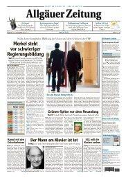 Allgäuer Zeitung, Kempten vom 24.09.2013 - Allgäuer Zeitung als ...