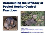 Determining the Efficacy of Pocket Gopher Control Practices