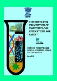 Guidelines for Examination of Biotechnology Applications for Patent