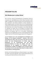 PRESSEMITTEILUNG Dirk Wiedenmann verlässt Ströer
