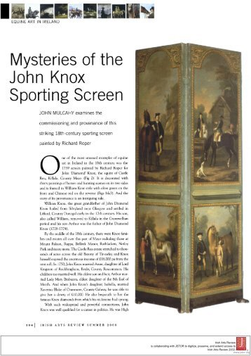 Mysteries of the Sporting Screen - Irish Arts Review
