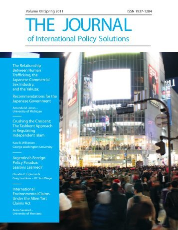 to download the full journal. (1.2MB PDF) - School of International ...