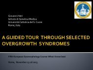 Sindromi da eccesso di crescita - Istituti