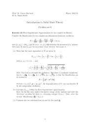Introduction to Solid State Theory
