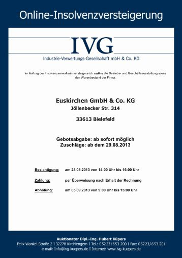 Euskirchen GmbH & Co. KG - ivg-kuepers.de