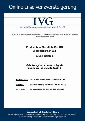 Euskirchen GmbH & Co. KG - ivg-kuepers.de