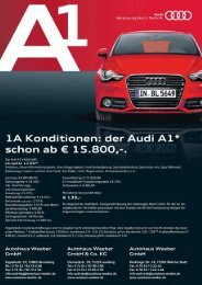 1A Konditionen: der Audi A1* - Autohaus Weeber