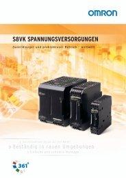 S8VK SPANNUNGSVERSORGUNGEN - Omron Europe