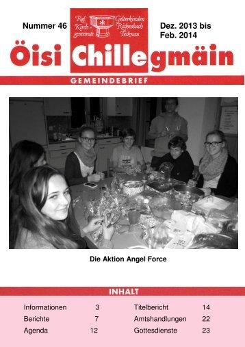Öisi Chillegmain 46, Dezember 2013 - Evangelisch-Reformierte ...