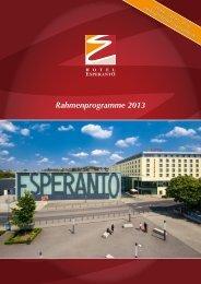 Rahmenprogramme 2013 - Hotel & Kongresszentrum Fulda