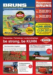 be strong, be KUHN Sa. 23.02.2013 So. 24.02.2013 - August Bruns ...