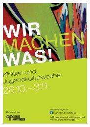 Gesamtprogramm Kinder- und Jugendkulturwoche ... - Stadt Nürtingen