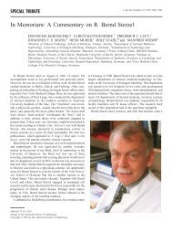 In Memoriam: A Commentary on R. Bernd Sterzel - Journal of the ...