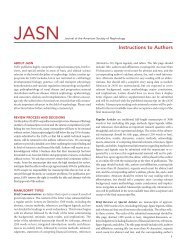 Instructions to Authors - Journal of the American Society of Nephrology