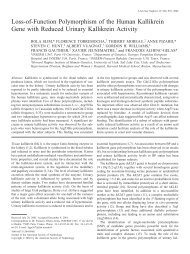 Loss-of-Function Polymorphism of the Human Kallikrein Gene with ...