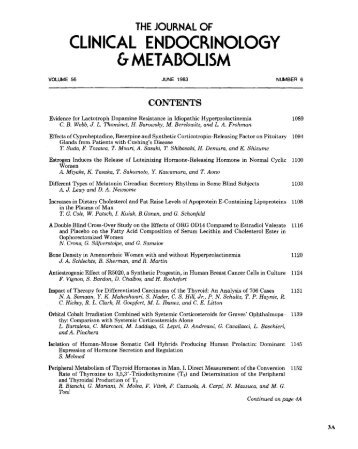 TOC (PDF) - The Journal of Clinical Endocrinology & Metabolism