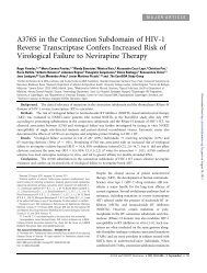 A376S in the Connection Subdomain of HIV-1 Reverse ...