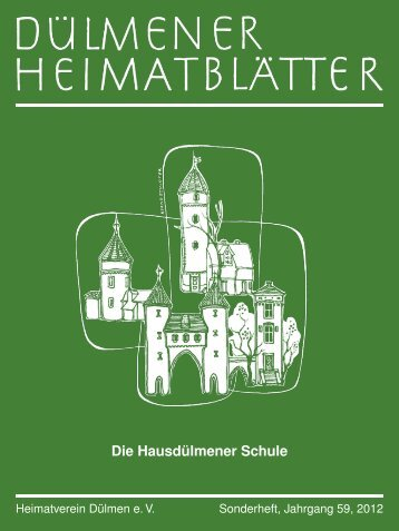 Die Hausdülmener Schule - Dülmener Heimatblätter