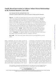 Family-Based Intervention to Enhance Infant–Parent Relationships ...