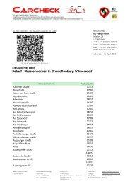 Betreff : Strassennamen in Charlottenburg ... - Carcheck-Berlin