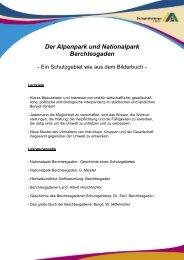 Der Alpenpark und Nationalpark Berchtesgaden, Teil 1 - Deutsches ...