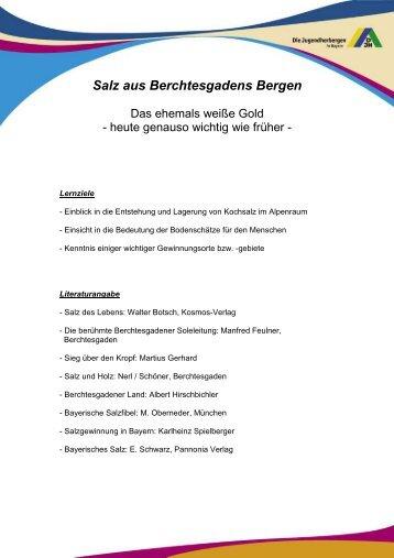 Salz aus Berchtesgadens Bergen - Deutsches Jugendherbergswerk